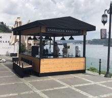 Starbucks Mobile Kiosk Outdoor Coffee Stand Project